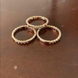 Kate spade stack rings